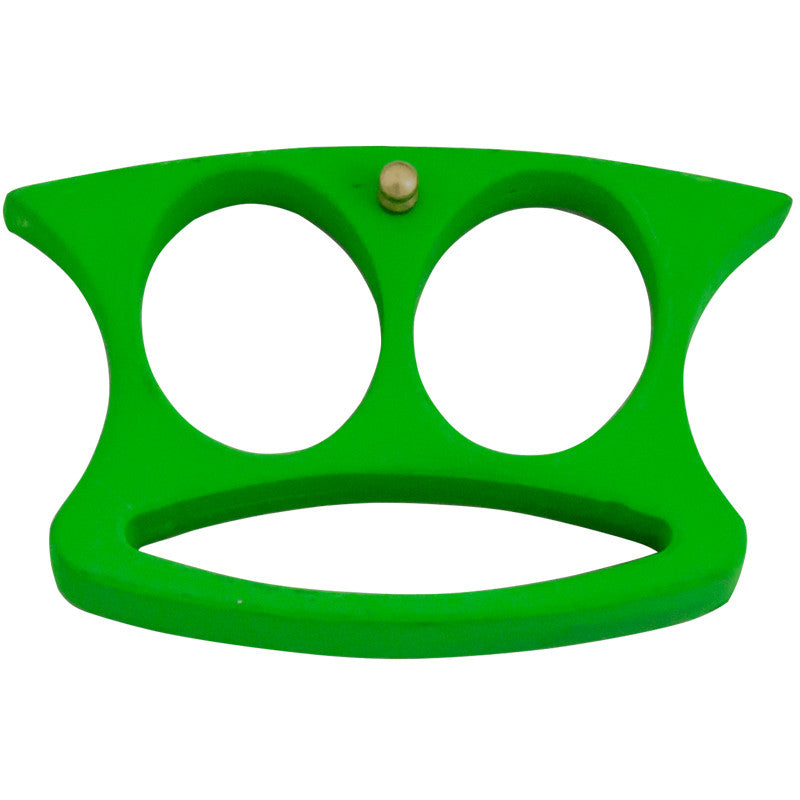 Lil' Buddy Mini Double Finger Belt Buckle/ Paper Weight - Toxic Green, , Panther Trading Company- Panther Wholesale