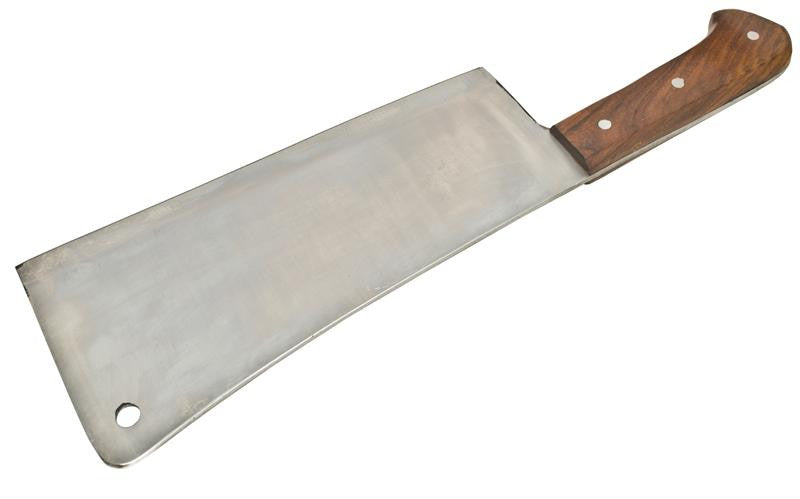 Wooden Handle Meat Cleaver 15.5 Inch with Full Tang Blade