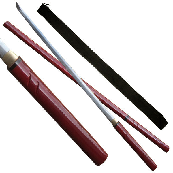 Maroon Full Tang Katana Sword with Scabbard, , Panther Trading Company- Panther Wholesale