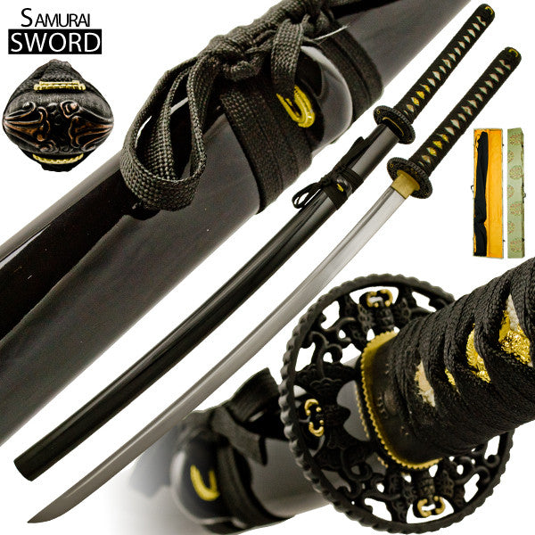 Handmade Flight Night Katana Sword Set with Case, , Panther Trading Company- Panther Wholesale