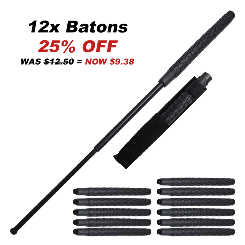 12x Bundle Pack of 29 Inch Police Baton Soild public safety Stick