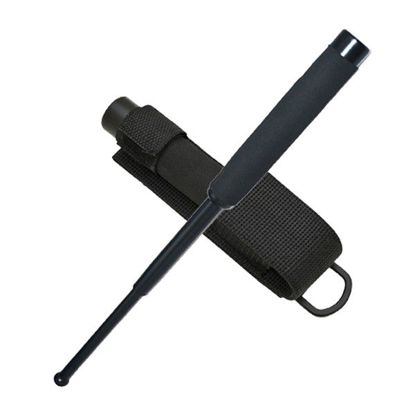 21 Inch Foam Handle Baton - Solid Steel Police Grade w/ Free Case, , Panther Trading Company- Panther Wholesale