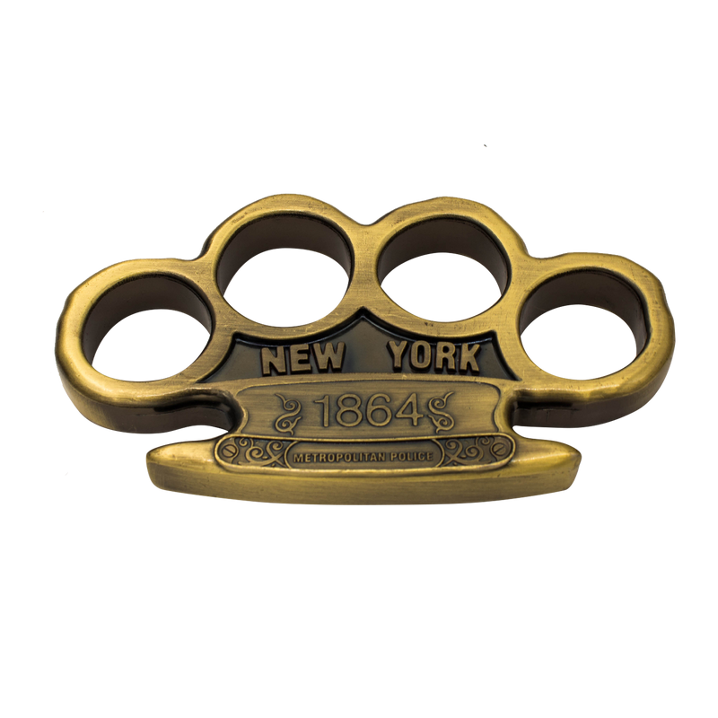 Heavy Duty 1864 New York Metro Police Reinforced Aluminum Knuckles, , Panther Trading Company- Panther Wholesale