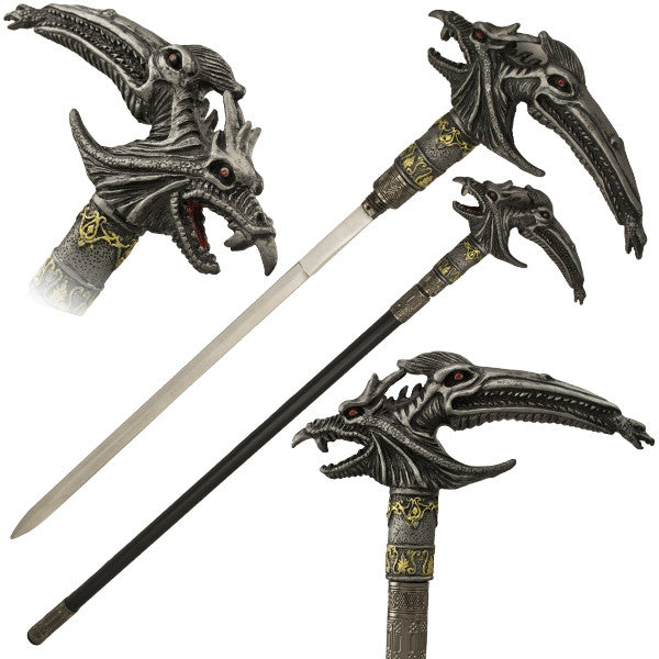 Fantasy Bird Demon Walking Cane with Hidden Sword - Panther Wholesale