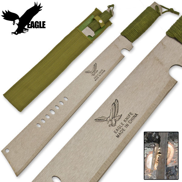 Eagle Survival Machete With Paracord and Protective Sheath, , Panther Trading Company- Panther Wholesale
