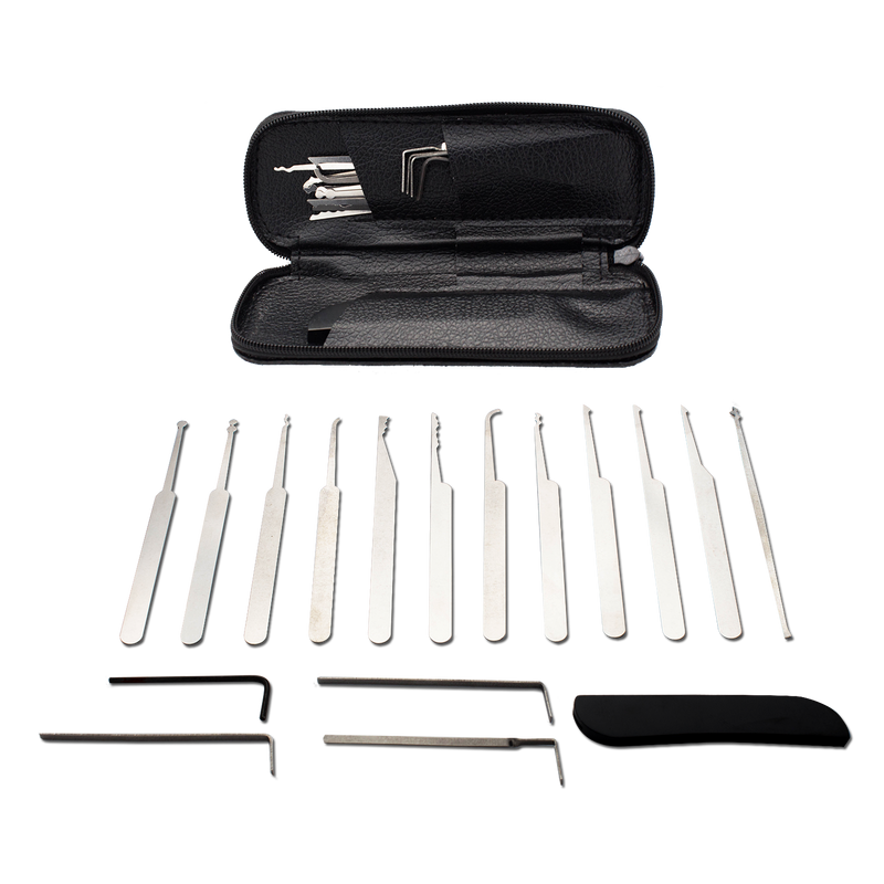 17 Piece Pro Lock Picks Lockpicking Set, , Panther Trading Company- Panther Wholesale