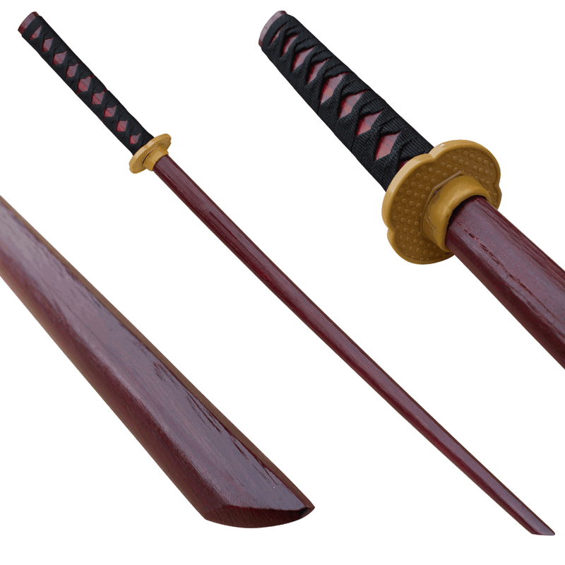 Dark Brown Bokken Wood Practice Sword, , Panther Trading Company- Panther Wholesale