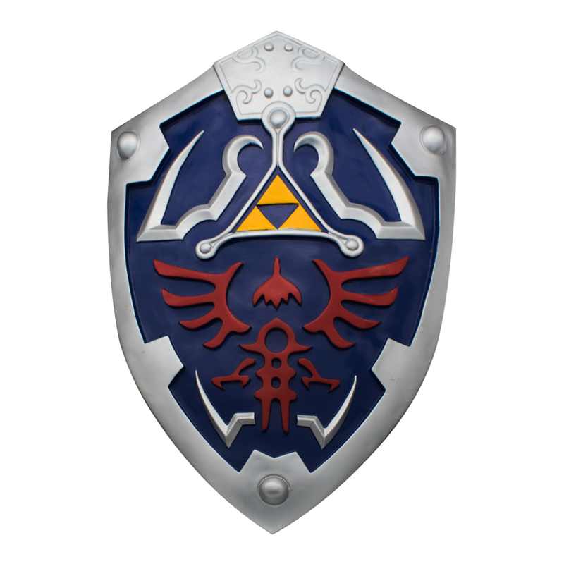 Deluxe gamer Hylian Shield Replica Blue gamer Shield, , Panther Trading Company- Panther Wholesale
