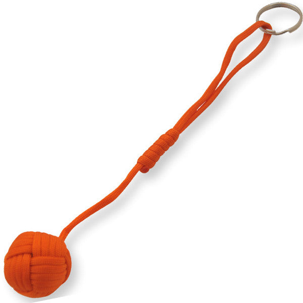 Large Monkey Fist Public Safety Keychain-  Orange, , Panther Trading Company- Panther Wholesale