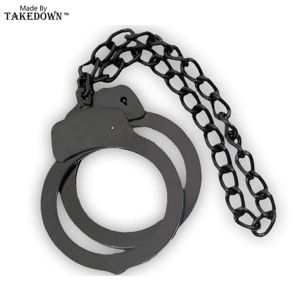 Law Enforcement Leg Cuffs (Black), , Panther Trading Company- Panther Wholesale