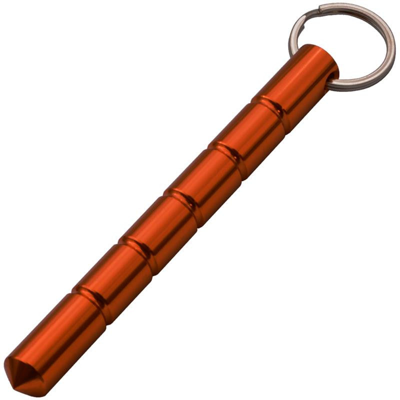 Public Safety Solid Steel Keychain Kubotan (Orange) - Panther Wholesale