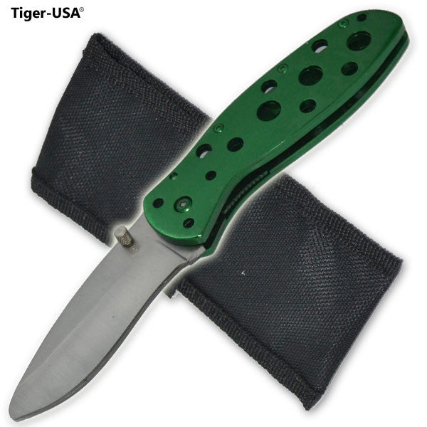7.5 Inch Shredder Trigger Action Knife  Green, , Panther Trading Company- Panther Wholesale