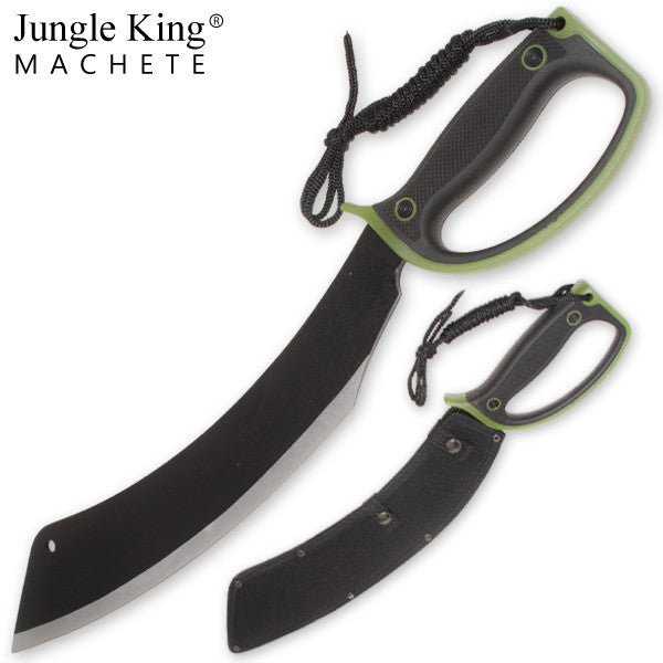 21.25 Inch Jungle King Machete Enclosed Handle - Camo Green, , Panther Trading Company- Panther Wholesale