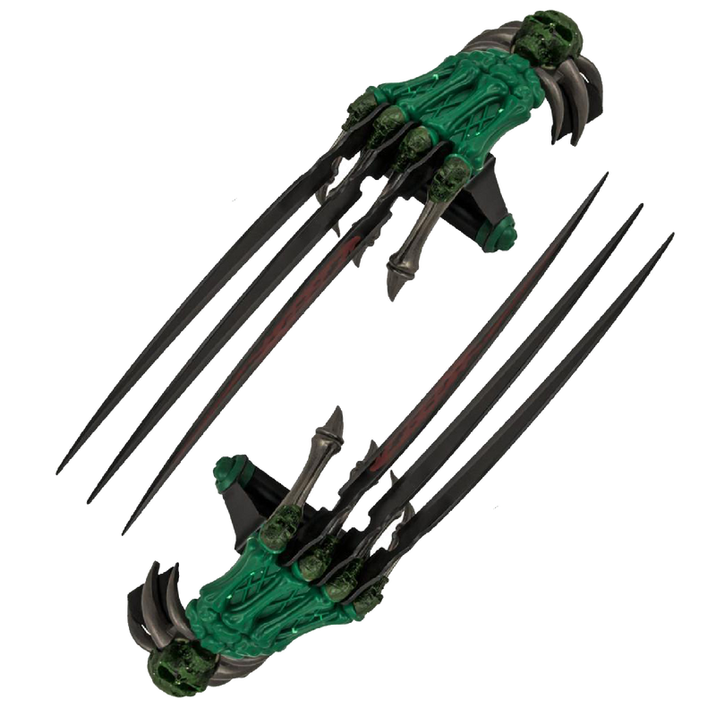 Dual Z-Slayer Dagger Claw Three Blade Gloves, , Panther Trading Company- Panther Wholesale