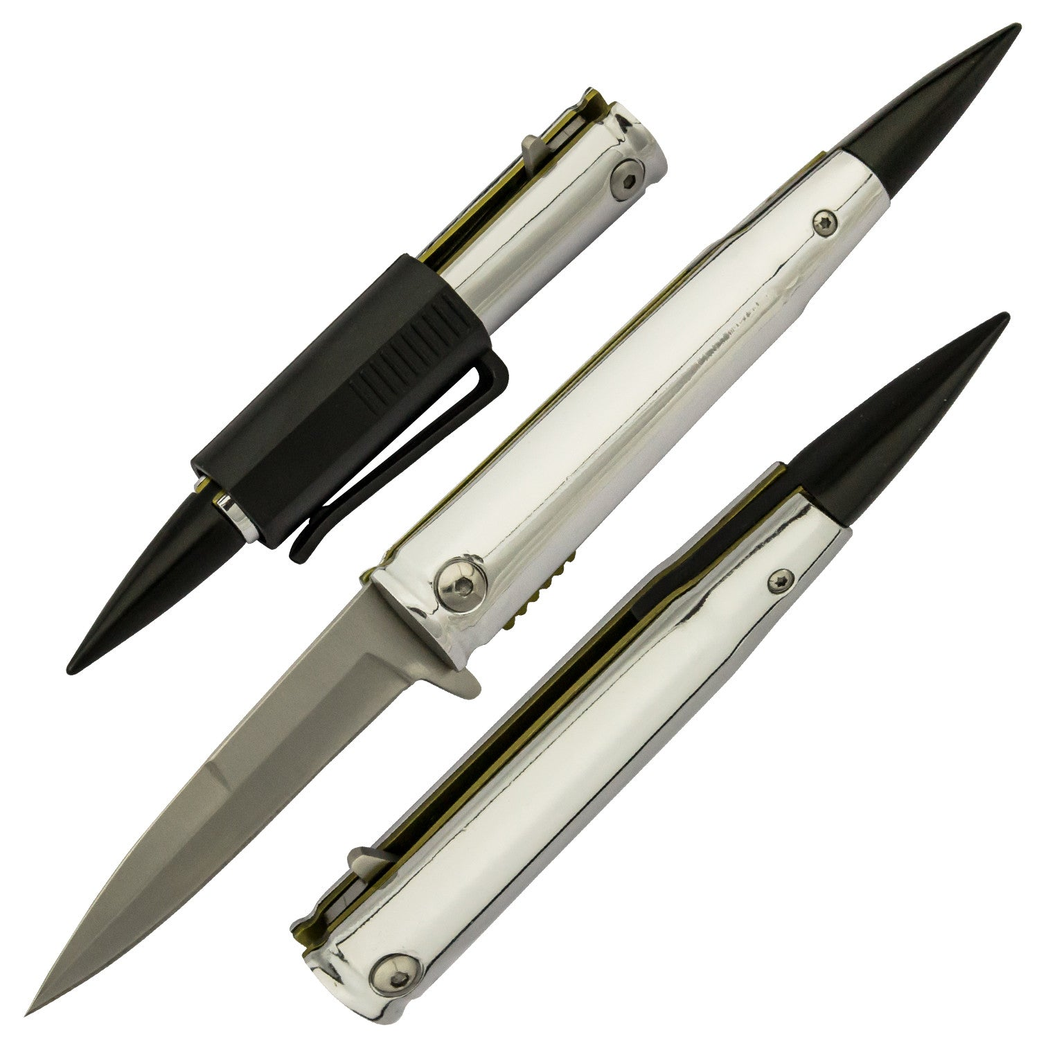 .50 Cal Trigger ActionBullet KNIFE with Removable Pocket Clip