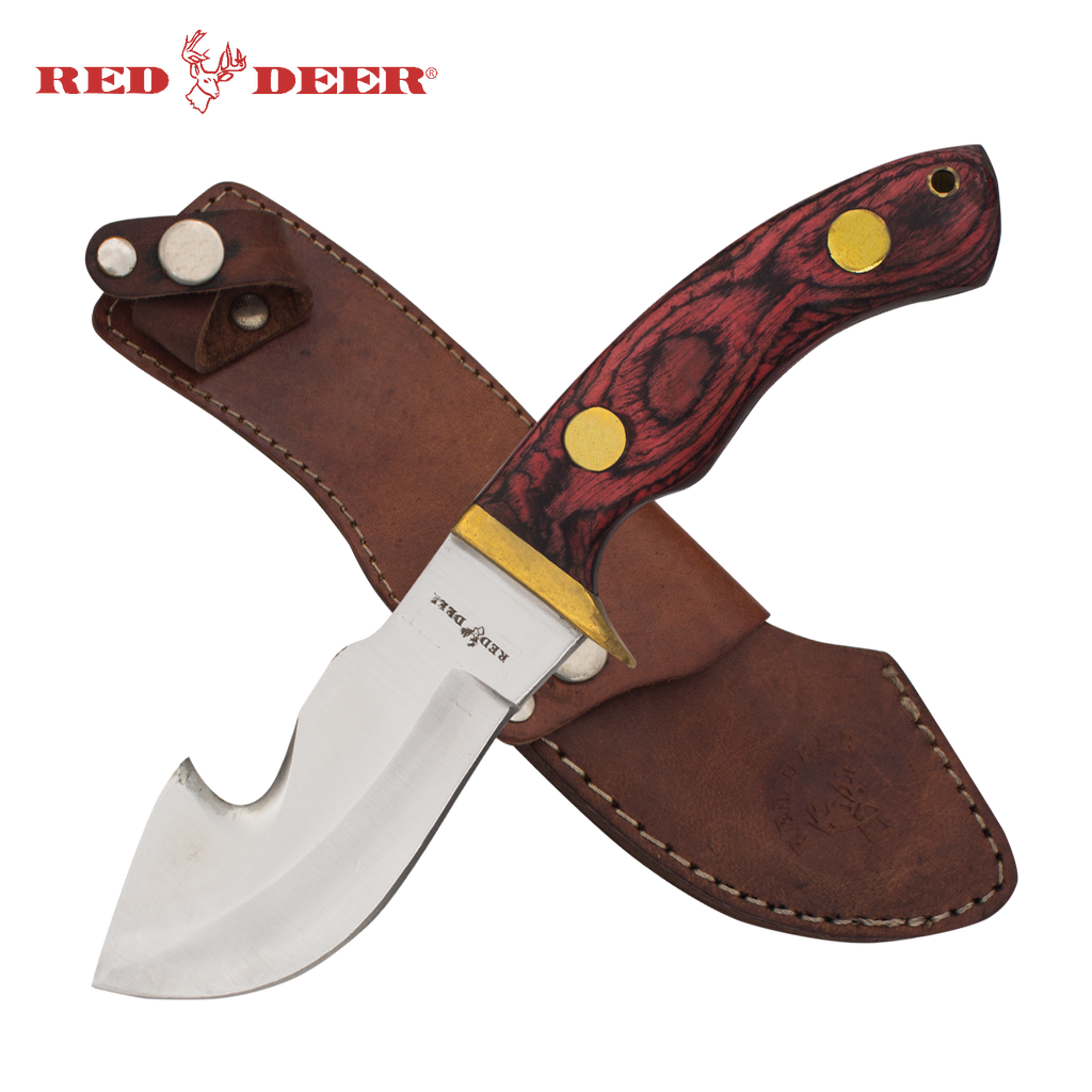 Red Deer® Hunting Knife with Sheath (Violet Red)