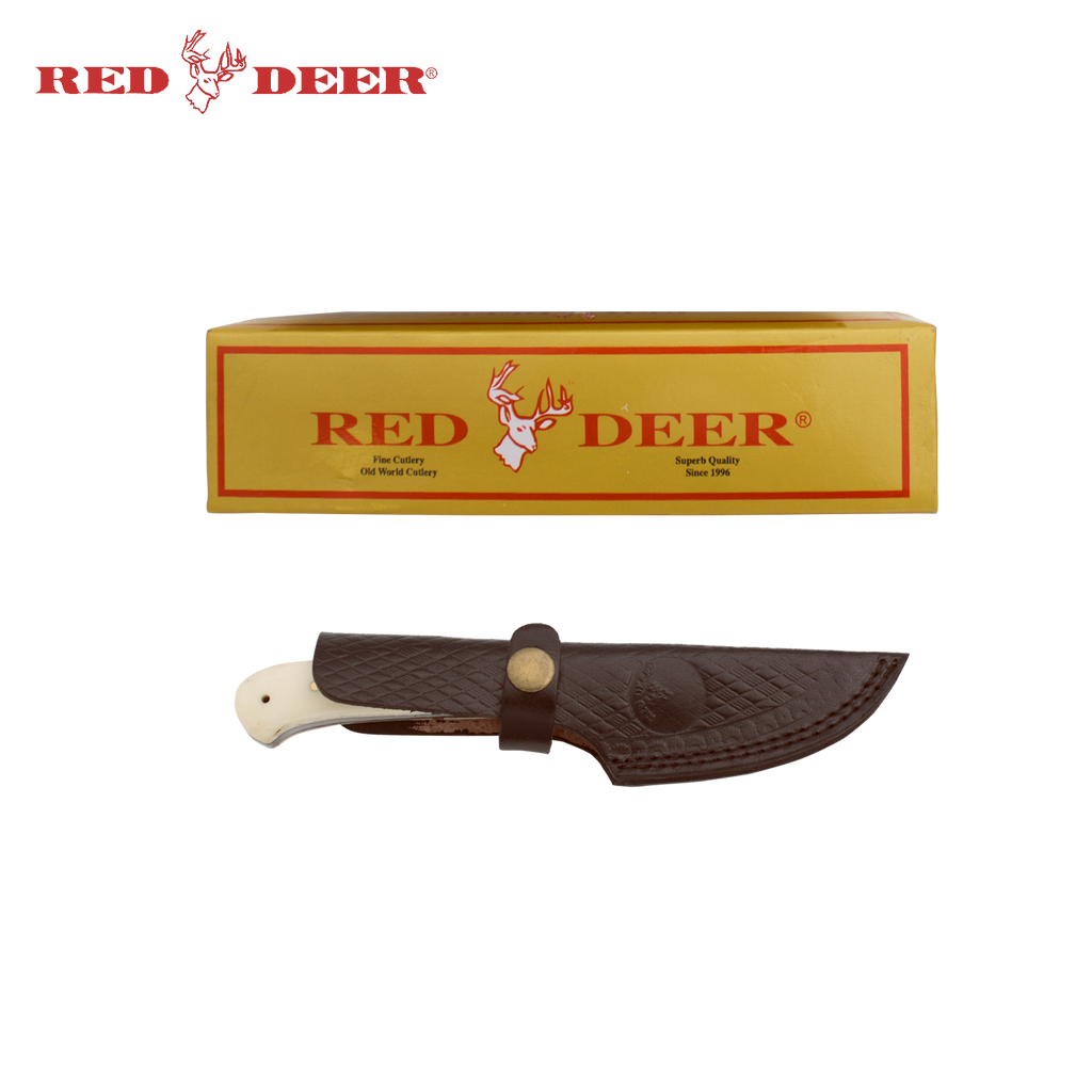 7 in Red Deer® Hunting Knife Real Bone Handle, , Panther Trading Company- Panther Wholesale