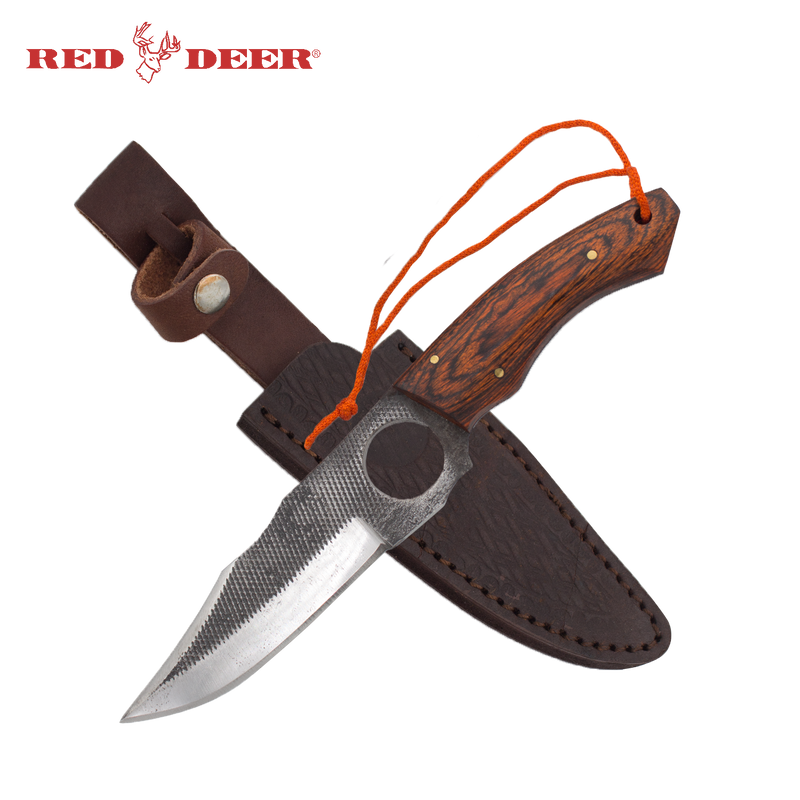 9 Inch Red Deer Doe Valley Textured Grip Skinning Knife, , Panther Trading Company- Panther Wholesale