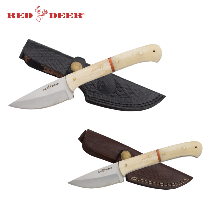 Red Deer® Hunting Knife Bundle Real Bone Handles, , Panther Trading Company- Panther Wholesale
