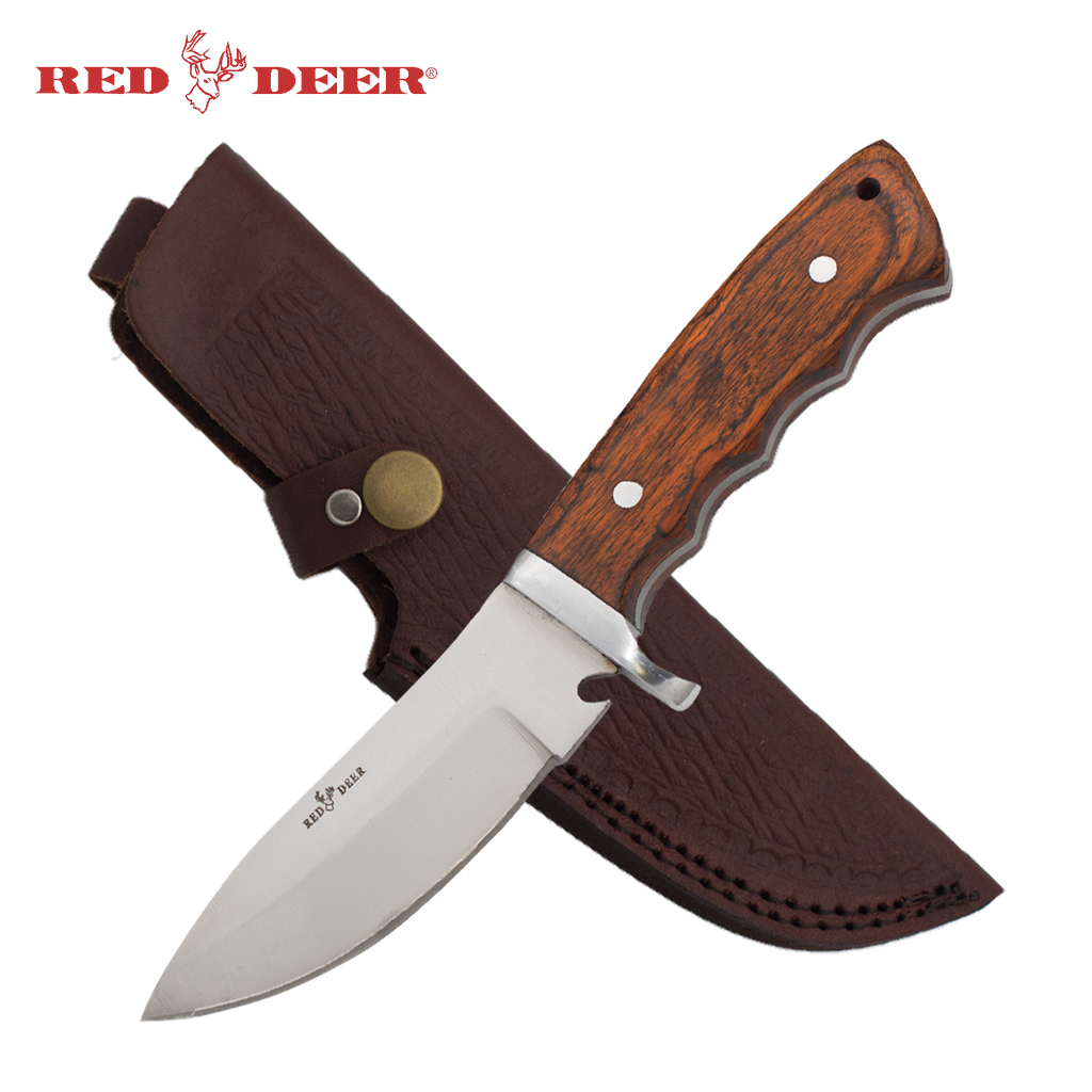 9 Inch Red Deer Full Tang Hunting Skinner