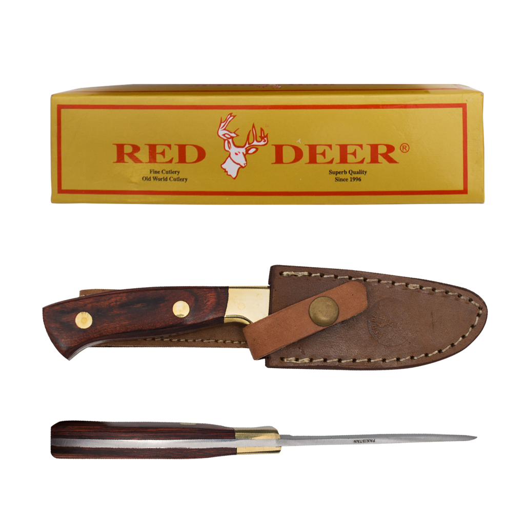 Pakka Hunter Red Deer® Full Tang Drop Point Pakka Wood Hunting Knife