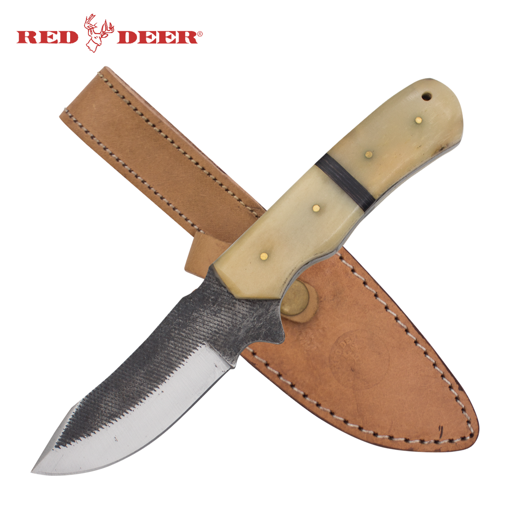 Red Deer® Full Tang File Steel Nessmuk Back Bone Hunting Knife