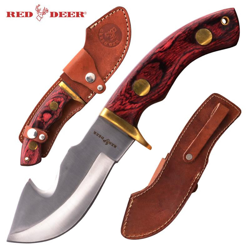 Red Deer® Hunting Knife with Sheath (Violet Red), , Panther Trading Company- Panther Wholesale