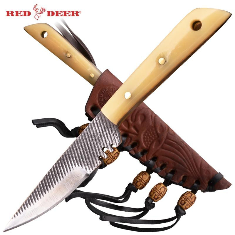 Red Deer® Patch Knife with Patch (Bone Handle) Small, , Panther Trading Company- Panther Wholesale