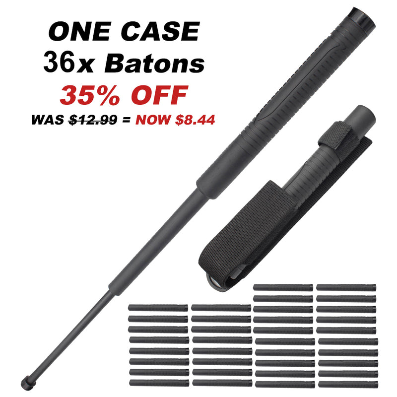 36x One Case of 22 Inch Baton Reinforced Plastic with Metal Core and Rubber Grip Handle