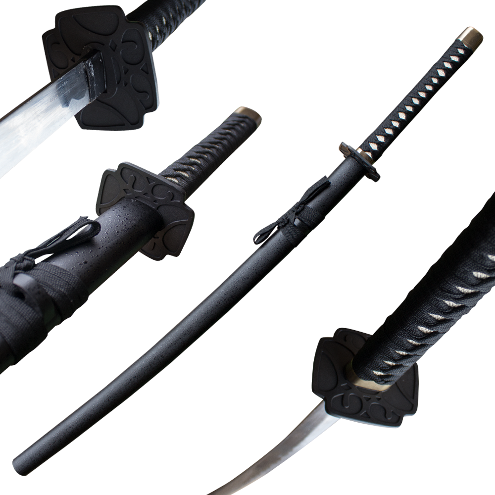 Midnight Rain Drop Ninja Katana Sword with Scabbard
