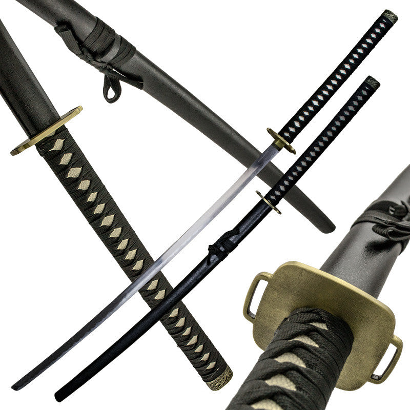 The Goliath Black Katana with Scabbard, , Panther Trading Company- Panther Wholesale