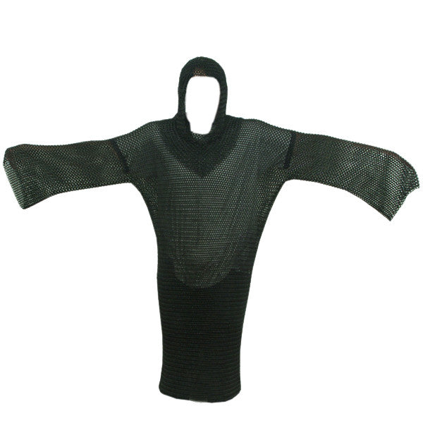 Chain Mail Armor Long SHIRT and Coif (Large)