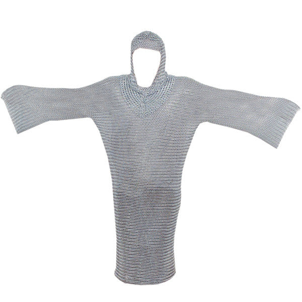 Chain Mail Armor Shirt and Coif (Medium), , Panther Trading Company- Panther Wholesale
