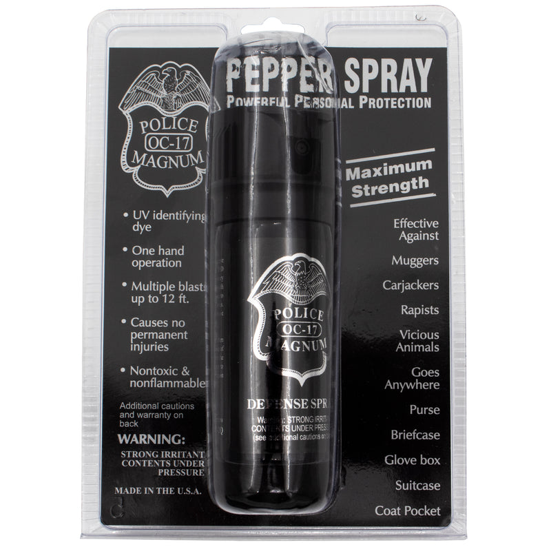 2 oz Pepper Spray with Flip Top- Police Strength OC-17 Magnum