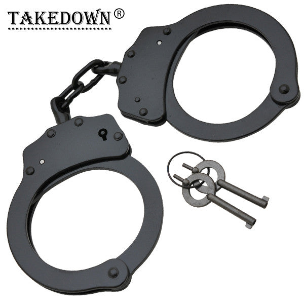 Police Edition Steel Professional Grade Handcuffs, , Panther Trading Company- Panther Wholesale