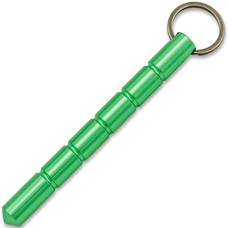 Public Safety Solid Steel Keychain Kubotan (Green) - Panther Wholesale
