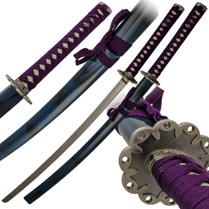 Purple Warrior Sword with Scabbard, , Panther Trading Company- Panther Wholesale