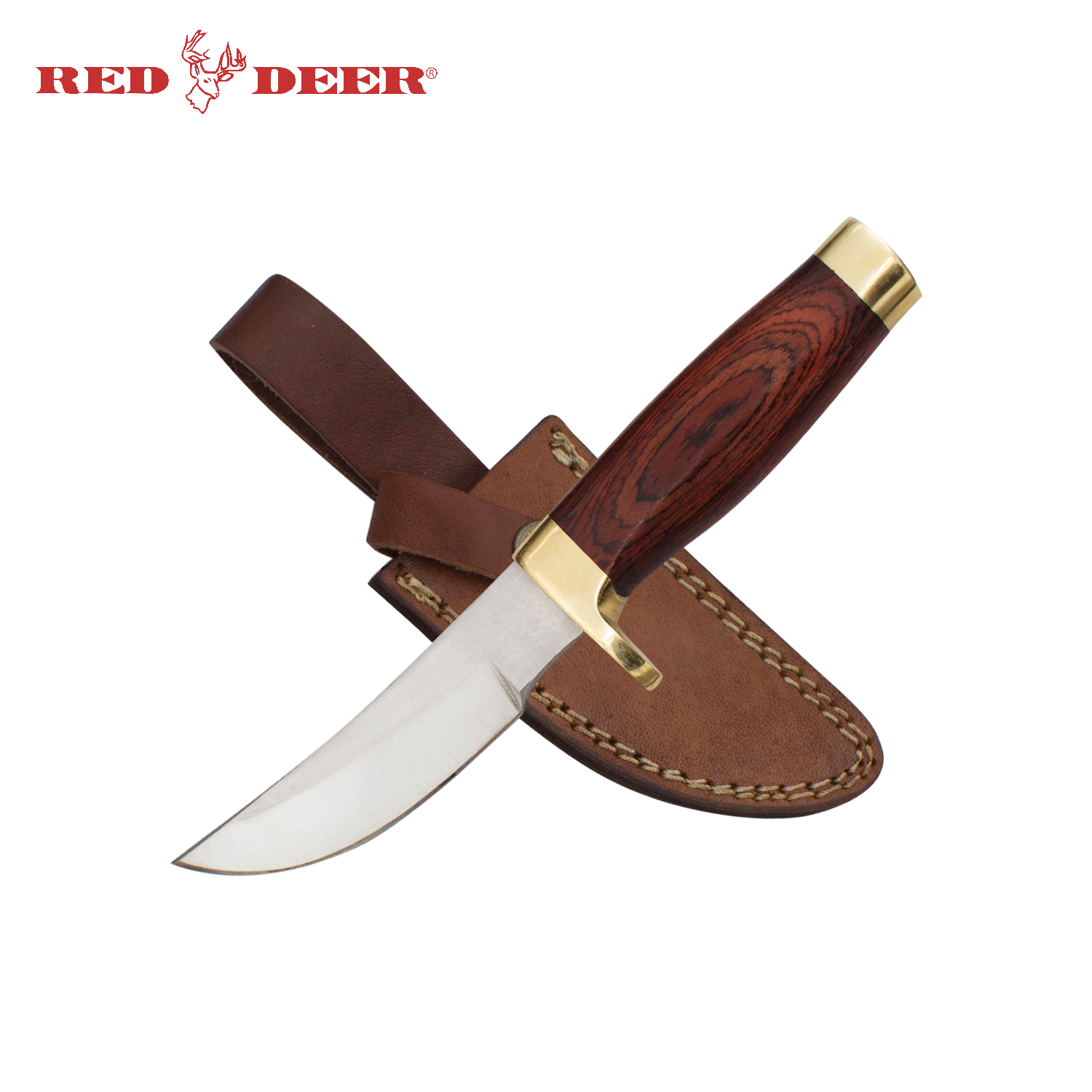 7.75 in Red Deer® Rosewood Handle Hunting Knife, , Panther Wholesale- Panther Wholesale