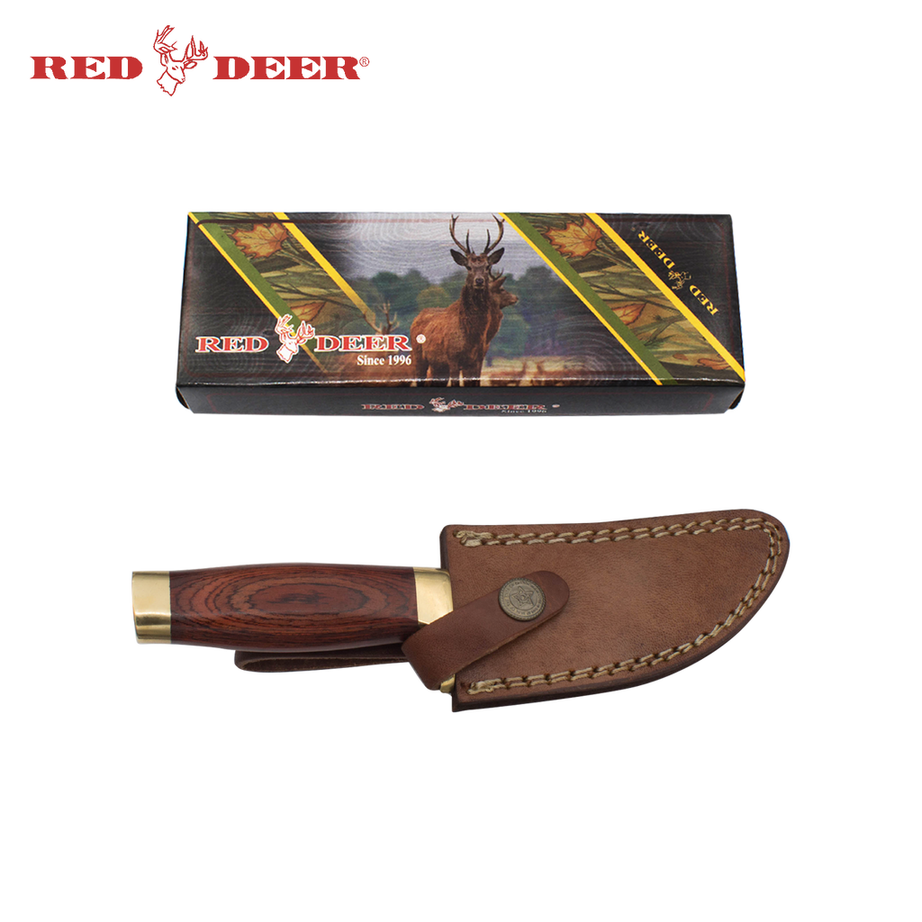 9.5 in Red Deer® Rosewood Handle Hunting Knife, , Panther Wholesale- Panther Wholesale