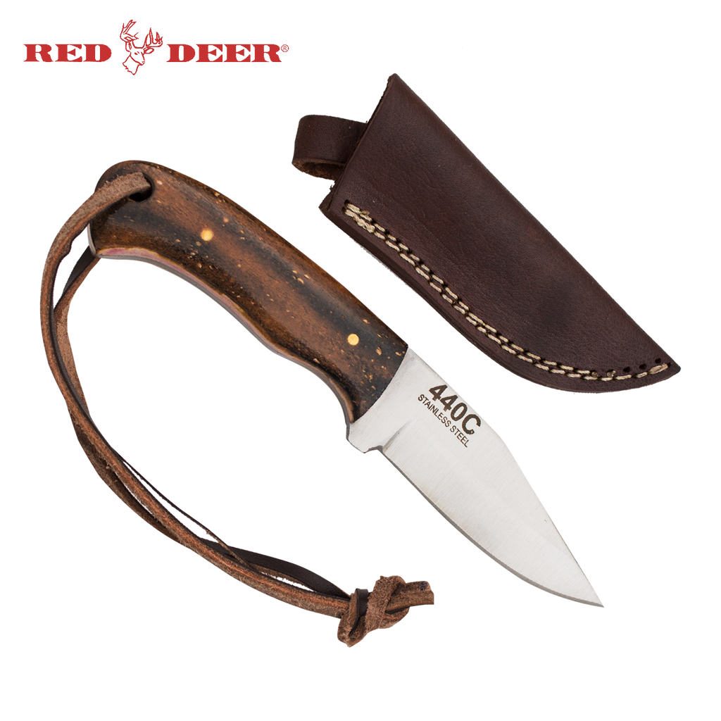 Red Deer® Full Tang 6 Inch Burnt Bone Hunting Knife