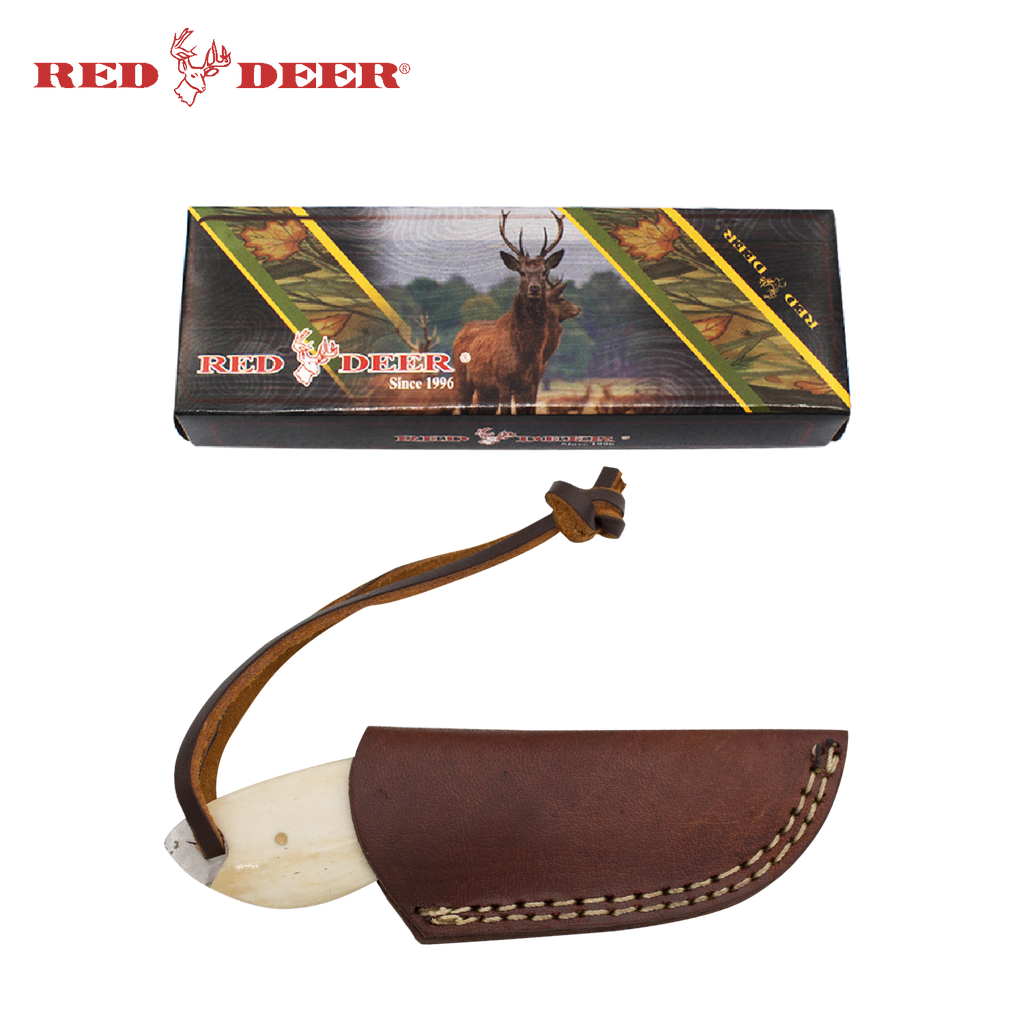 Red Deer® Full Tang 5 Inch Bone Hunting Knife