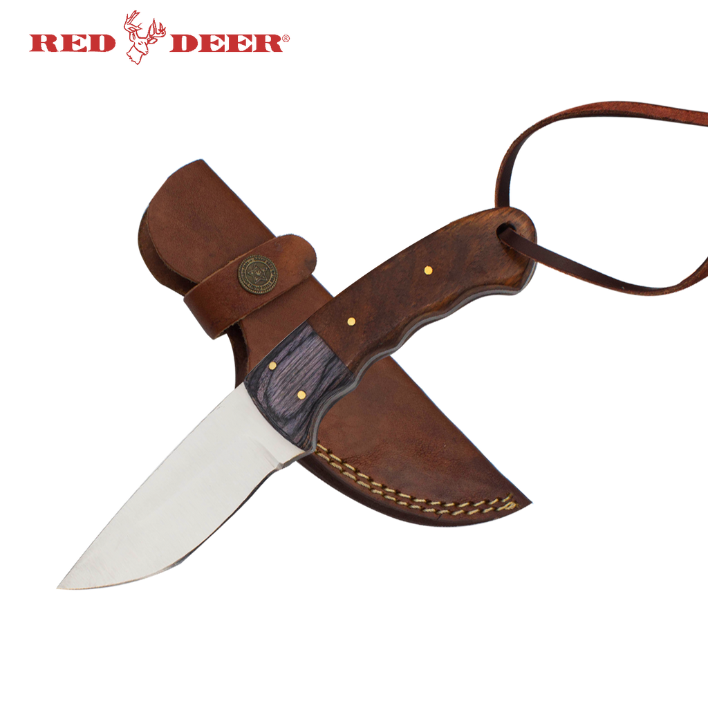 Red Deer® Full Tang Hunting Knife Wood Handle, , Panther Wholesale- Panther Wholesale