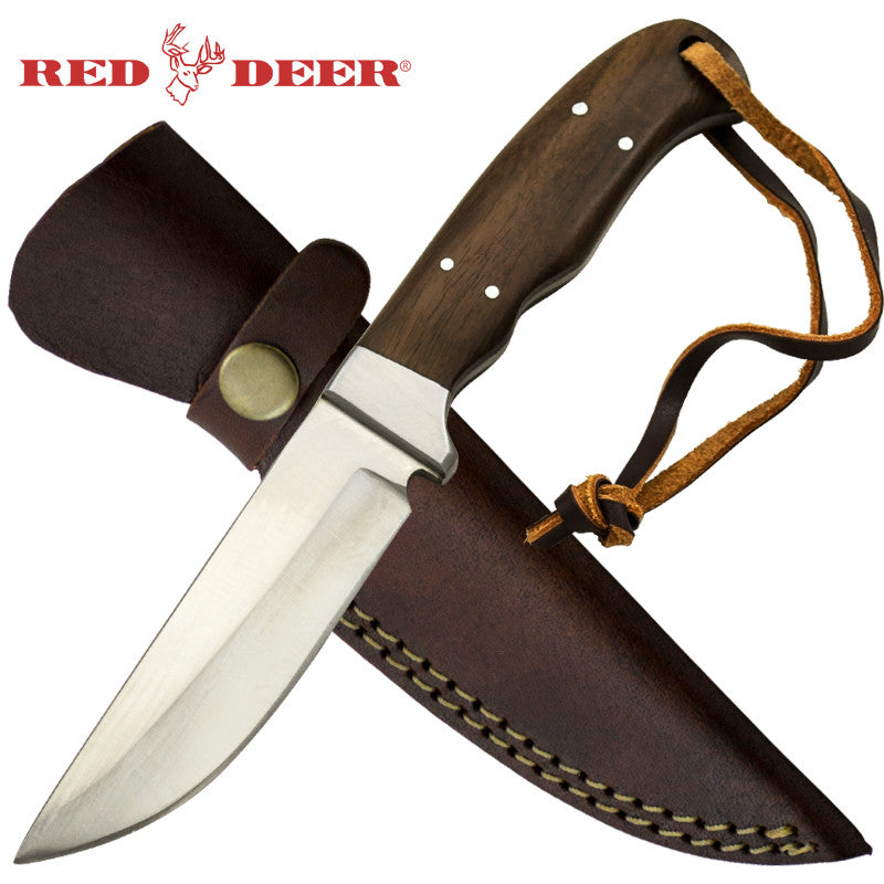 Red Deer 8.5 Inches Full Tang Pakka Wood Hunting Knife, , Panther Trading Company- Panther Wholesale