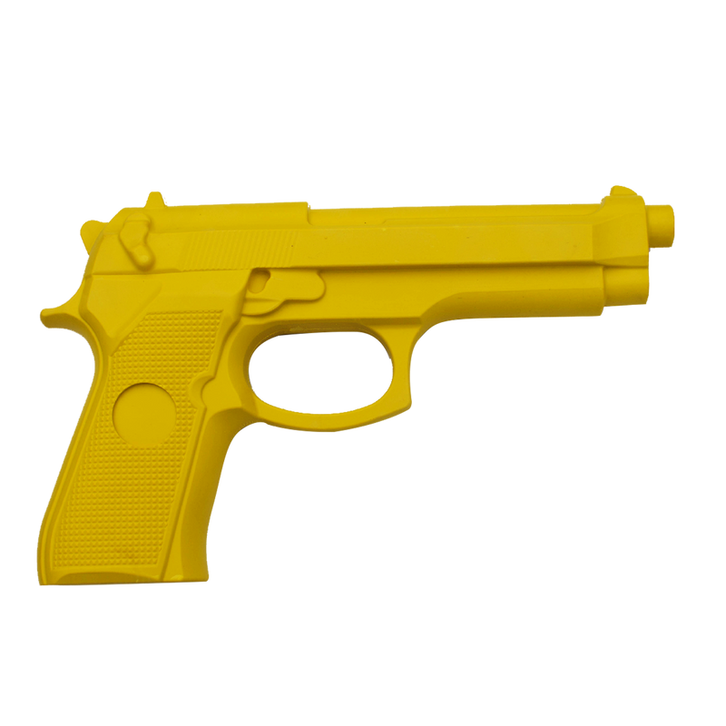 Rubber Self Defense Training Gun Yellow