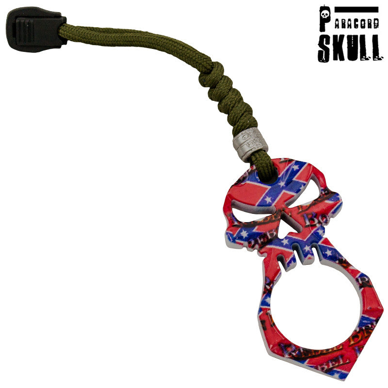 Rebel Knuckle Survival Keychain Skull, , Panther Trading Company- Panther Wholesale