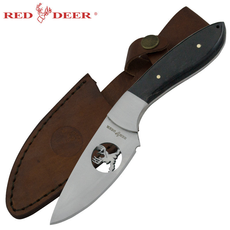 Red Deer Appalachian Deer Hunting Knife Full Tang Buffalo Horn, , Panther Trading Company- Panther Wholesale
