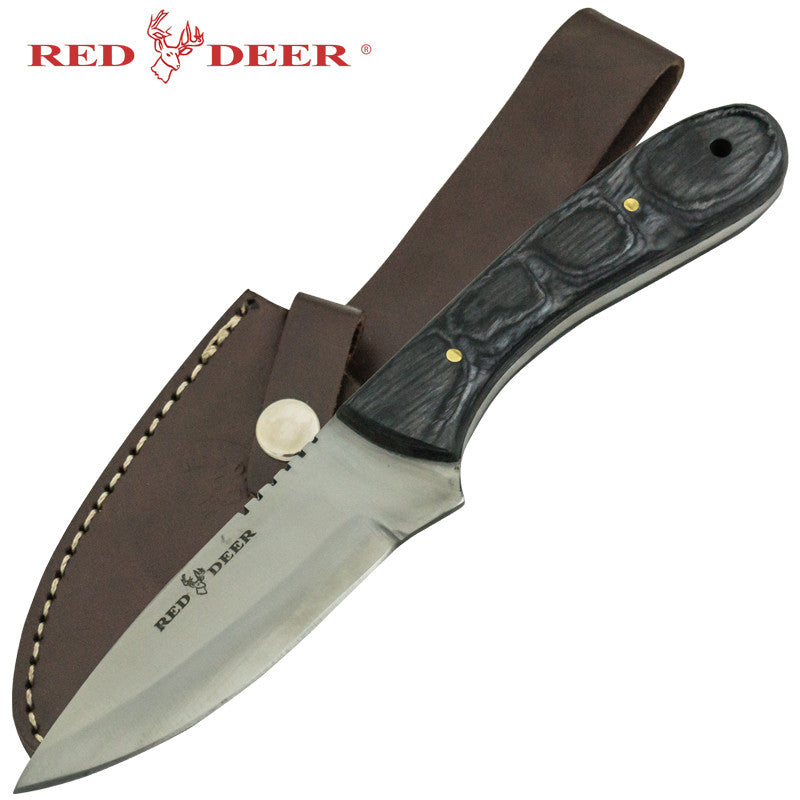 Red Deer Black Pakka Wood Handle Hunting Knife