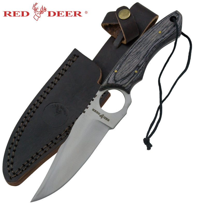 Red Deer Doe Valley Skinning Knife Black Pakka