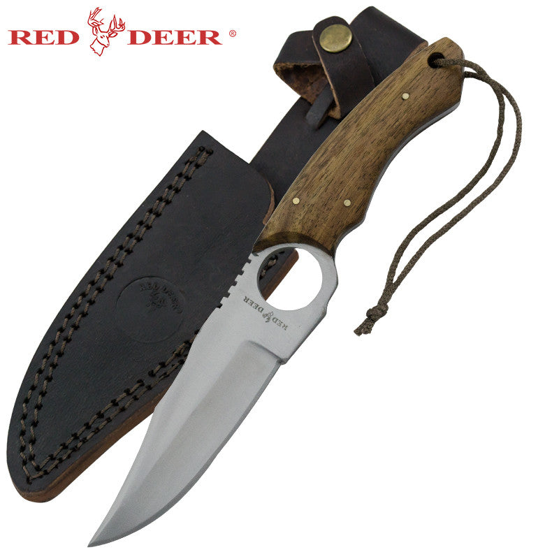 Red Deer Doe Valley Skinning Knife Dark Wood, , Panther Trading Company- Panther Wholesale