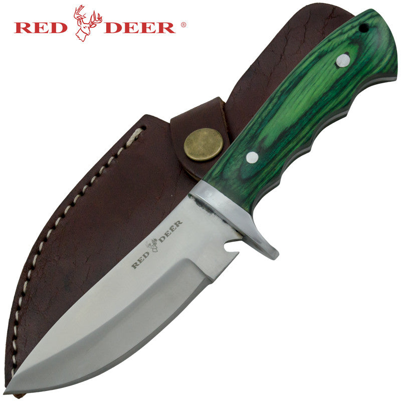 Red Deer Game Skinner Pakka Full Tang Hunting Knife, , Panther Trading Company- Panther Wholesale